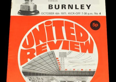 Man Utd v Burnley 06.10.1971 - League Cup 3rd Round
