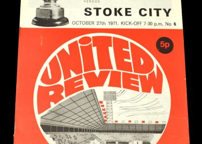 Man Utd v Stoke 27.10.1971 - League Cup 4th Round