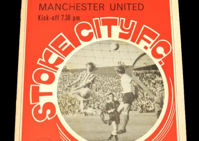 Man Utd v Stoke 08.11.1971 - League Cup 4th Round Replay