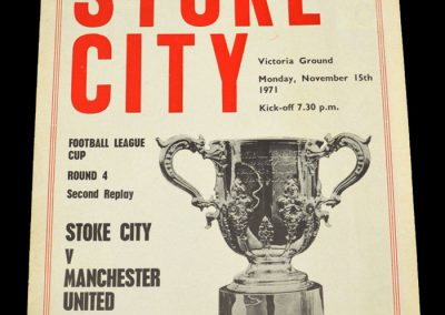 Man Utd v Stoke 15.11.1971 - League Cup 4th Round 2nd Replay