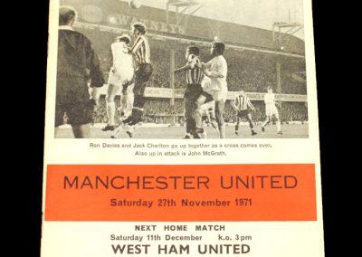 Man Utd v Southampton 27.11.1971