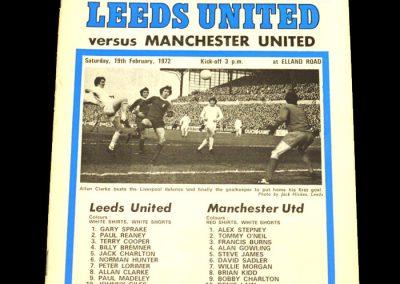 Man Utd v Leeds 19.02.1972
