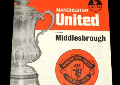 Man Utd v Middlesbrough 26.02.1972 - FA Cup 5th Round