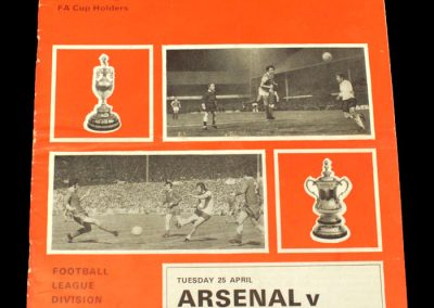Man Utd v Arsenal 25.04.1972