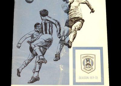 Man City v Huddersfield 30.10.1971