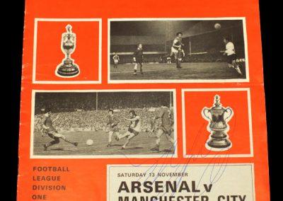 Man City v Arsenal 13.11.1971