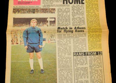 Man City v Derby 04.12.1971