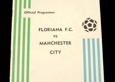 Man City v Floriana 15.12.1971 - Friendly