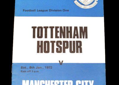 Man City v Spurs 08.01.1972