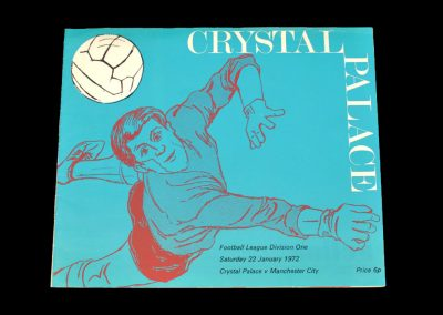 Man City v Crystal Palace 22.01.1972