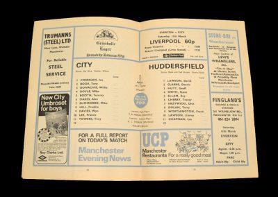 Man City v Huddersfield 19.02.1972