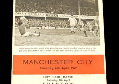 Man City v Southampton 04.04.1972