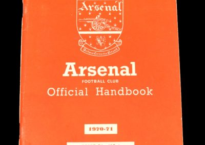 Arsenal official handbook Season 1970-71