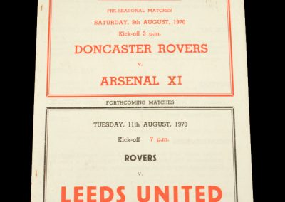 Arsenal 11 v Doncaster 08.08.1970