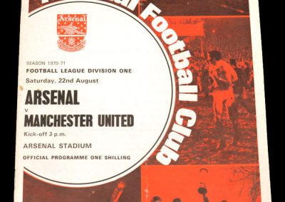 Arsenal v Man Utd 22.08.1970