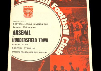 Arsenal v Huddersfield 25.08.1970