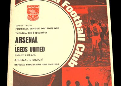 Arsenal v Leeds 01.09.1970