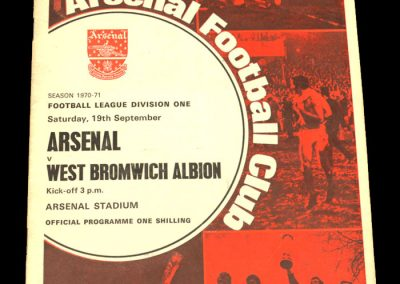 Arsenal v West Brom 19.09.1970