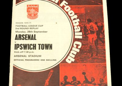Arsenal v Ipswich 28.09.1970 - League Cup 2nd Round Replay