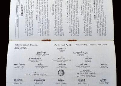 England v Rest of Europe 26.10.1938