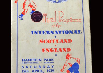 England v Scotland 15.04.1939 Lawton last minute winner 2-1
