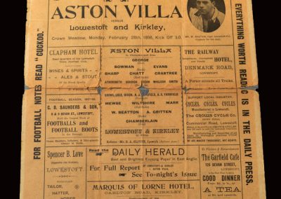 Lowestoft v Aston Villa 28.02.1898