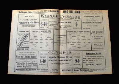 Everton v Bradford City 25.12.1914 | Liverpool Reserves v Bolton Reserves 25.12.1914