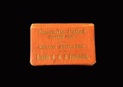 Newcastle United Season Ticket 1919/1920