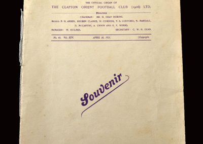 Clapton Orient v Notts County 30.04.1921 (Edward Prince of Wales Signature)