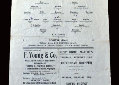 England v The South 22.02.1922