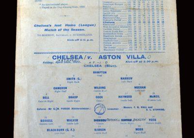 Chelsea v Aston Villa 14.04.1922