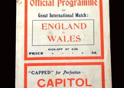 Wales v England 05.03.1923