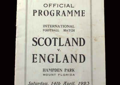 Scotland v England 14.04.1923
