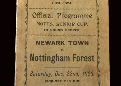 Newark v Notts Forest 22.12.1923