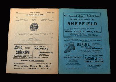 West Brom v Aston Villa 28.02.1925