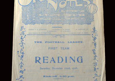 Clapton v Reading 22.12.1928