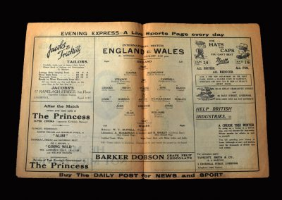 England v Wales 18.11.1931 (Bastin Debut)