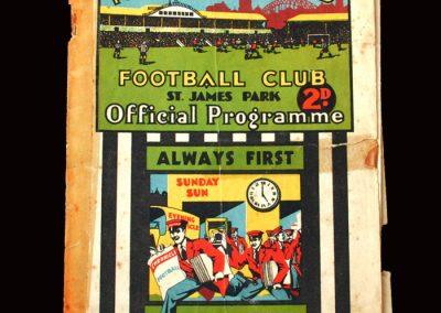 Newcastle v Aston Villa 01.01.1932