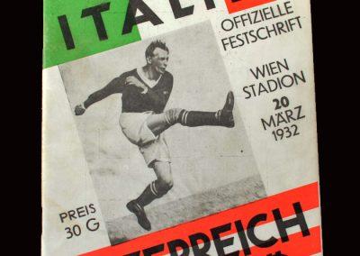 Austria v Italy 20.03.1932