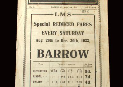 Barrow v Hartlepool 04.11.1933