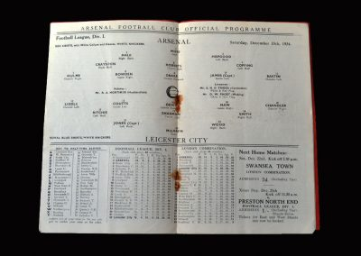 Arsenal v Leicester 15.12.1934