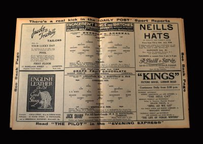 Arsenal v Everton 16.03.1935 | Liverpool Reserves v Sheff Utd Reserves 16.03.1935