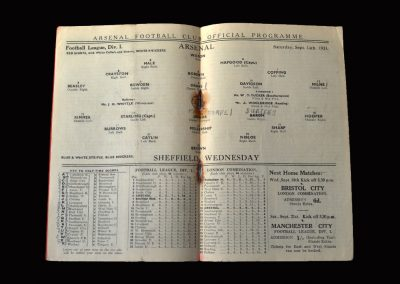 Arsenal v Sheff Wed 14.09.1935