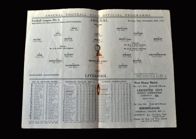 Arsenal v Liverpool 26.12.1935