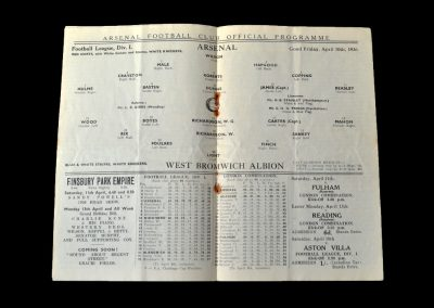 Arsenal v West Brom 10.04.1936