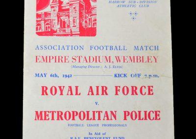 RAF v Met Police 06.05.1942 6-3