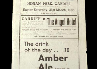 Wales v England 31.03.1945 (Air Training Corps)