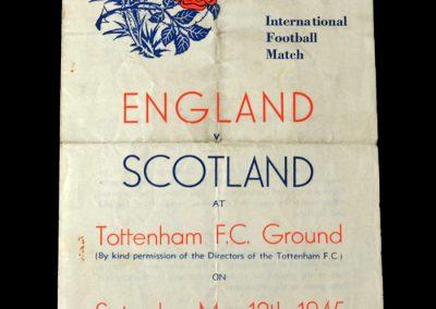 England v Scotland 12.05.1945 (Air Training Corps)
