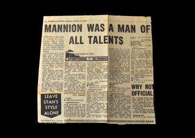 Mannion Letter 30.04.1976