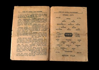 Stoke v Aston Villa 09.11.1946